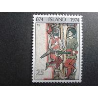 Исландия 1974 1100 лет, изображение 14 века