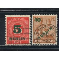 Германия Зап.Берлин 1949 Надп  Стандарт #64,65