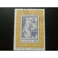 Италия 1974 Петрарка-поэт миниатюра