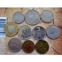 Азия. 10 монет-10 разных стран.-2