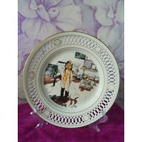 Коллекционная настенная тарелка по картине художника К.Ларссона. Дания