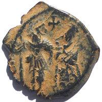 ИРАКЛИЙ (610-641 г.) И ИРАКЛИЙ КОНСТАНТИН. АЕ ФОЛЛИС.
