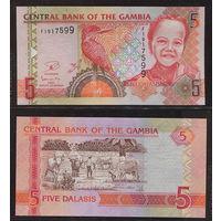 "Распродажа коллекции. Гамбия. 5 даласи 2013 года (P-25с - 2006-2018 ND ""Full Printing"" Issue)"