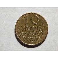 Германия Данциг 10 пфеннигов 1932г
