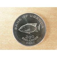 Уганда 200 шиллингов 2007 г.