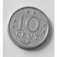 Нидерландские Антилы, 10 центов, 1980 г
