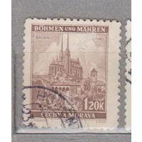 Германия рейх  Богемия и Моравия Местные мотивы 1939-1940 г архитектура    лот 5    3