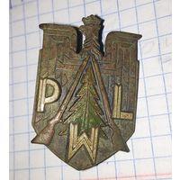 Значёк PWL. Польский военный лесник.