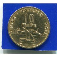 Джибути 10 франков 1983