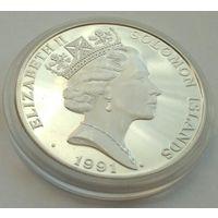 Соломоновы острова, 10 долларов 1991, Олимпиада-1992 в Барселоне. С р. без М.Ц.
