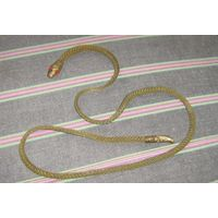 Пояс латунный змейка