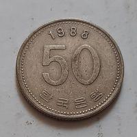 50 вон 1988 г. Южная Корея
