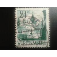 Германия 1948 Вюртемберг фр. зона монастырь