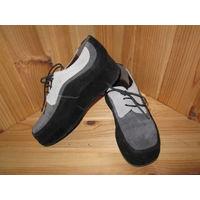 Туфли замшевые Karston (Франция) на платформе, р.36