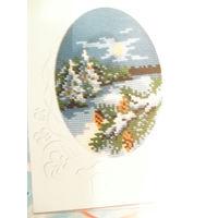 Схема открытки для вышивки крестом