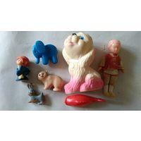 Кукла, пупсик, хоккеист, зайчик,мишка, слон, рыбка, игрушки ссср