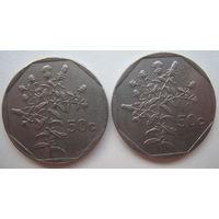 Мальта 50 центов 1991, 1992 гг. Цена за 1 шт. (g)