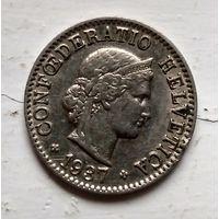 Швейцария 5 раппен, 1934  2-12-14