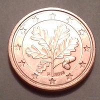 1 евроцент,  Германия 2016 F, AU