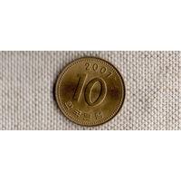 Южная Корея 10 вон 2001(Li)