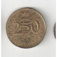 250 ливров 2012 года Ливана 20-22