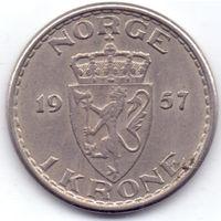 Норвегия, 1 крона 1957 года.