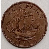 Великобритания 1/2 пенни 1939
