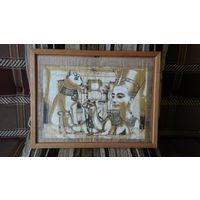 Рамка деревянная со стеклом +рисунок