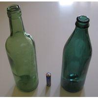Бутылки винная и пивная 70-х годов .