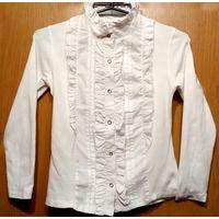 Р.146-152 школьная белая блузка VRD на кнопках