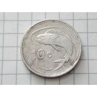 Мальта 10 центов 1991