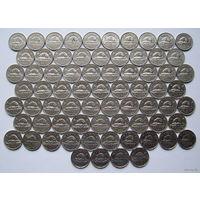 КАНАДА Монеты 5 центов  (62 шт. - список внутри)