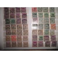 С 1 рубля!Марки Германия. Инфляционные марки 1923 год.96 шт.