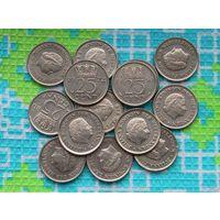 Нидерланды 25 центов. Юлиана.