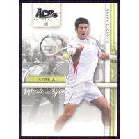 2007 Ace Authentic карточка Novak Djokovic теннис