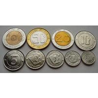 """Алжир. Набор 9 монет 1992-2003 года 1/4 динара - 100 динаров  """"Животные"""" UNC"""