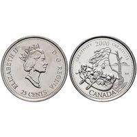 Канада 25 центов 2000 креативность UNC