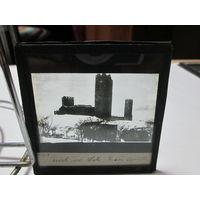 Фото негатив фото пластина Замок Мазовецких князей в Черске 1920 г.