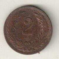 Венгрия 2 филлер 1904