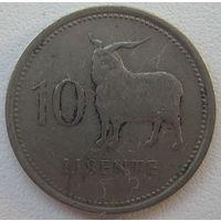 Лесото 10 лисенте 1979 г.