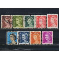 GB Австралия 1966-71 EII Стандарт #358-61,390-1,450,478