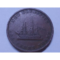 Канада Новый Брунсвик 1 пенни 1843 г.Корабль.