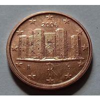 1 евроцент, Италия 2006 г.