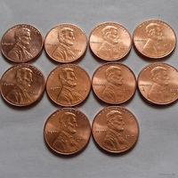 1 цент США, погодовка 2010-х (2017 P)
