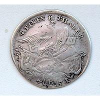 1/4 таллера 1751 В Пруссия