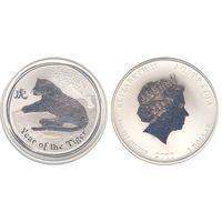 1 доллар 2010 тигр, лунар 2