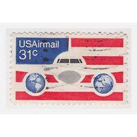 Марка авиапочты США