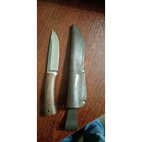 """Нож редкий для охоты """"Асгард"""", порошковая сталь 20CV, чехол толстая прошитая кожа. ТОРГ"""
