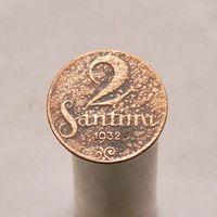 Латвия 2 сантима 1932