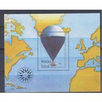 [682] Лаос 1983.Авиация.Воздушный шар,перелет. БЛОК.